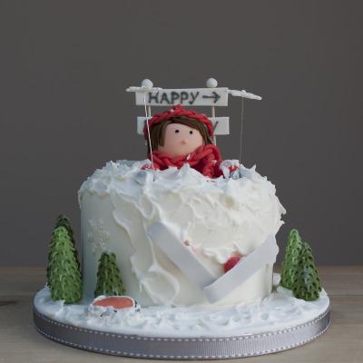 Skiing Cake
